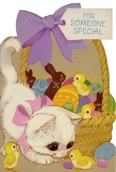 kitten & Easter basket