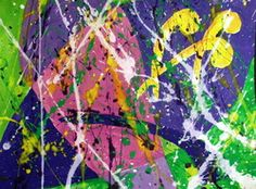 Project Pollock (18 x 24 in.,) c2010, Ginger Rembold, high school art teacher, Baker City, Oregon.