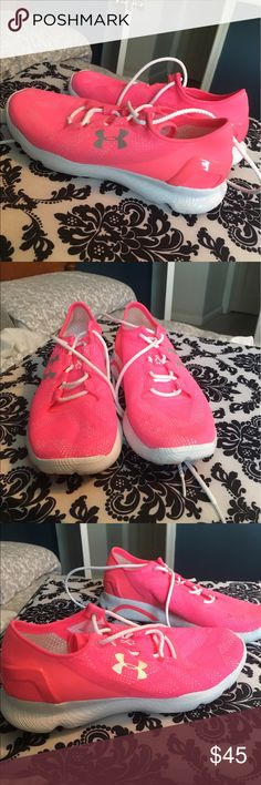 Under armour tennis shoes Bright pink. Hardly worn Under Armour Shoes Athletic Shoes