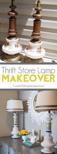 Cuckoo 4 Design: Thrift Store Lamp Makeover