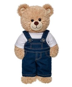 Each and every one of our adorable Teddy bears clothes have a personality of their own. Display yours with Teddy bear clothing from Build-A-Bear Workshop. Cute Stuffed Animals, Cute Animals, Custom Teddy Bear, Build A Bear Outfits, Teddy Bear Pictures, Teddy Bear Clothes, Cute Teddy Bears, Denim Overalls, Overalls Outfit