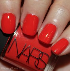 Lal Mirchi, another gorgeous color from the new Thakoon for NARS collection...this shade is a wonderful, jelly red with orange undertones.  Pic courtesy of Vampy Varnish.