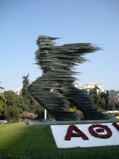 """""""The Runner,"""" in Athens, Greece - definitely walked past this a few times! Amazing Photos, Cool Photos, Walk Past, Amazing Spaces, Athens Greece, Best Sites, Greece Travel, Countries Of The World, Planet Earth"""