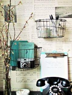 Metal Wall Basket contemporary wall shelves