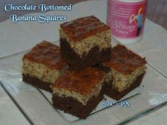 Chocolate-Bottomed Banana Squares