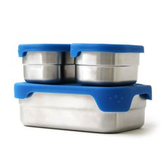 The Blue Water Bento Splash Box is a no-leak, plastic-free, reusable and ocean friendly stainless steel lunchbox with silicone lid. Stainless Steel Containers, Stainless Steel Lunch Box, Stainless Steel 304, Bento Box Lunch, Lunch Kits, Lunch Boxes, Lunch Ideas, Box Lunches, Lunch Box Containers