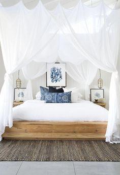 3b8e644c3e44 White bedroom with pops of color (white bedroom ideas) #white #bedroom #
