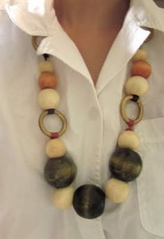 BEADED RING NECKLACE WITH MINI TUTORIAL