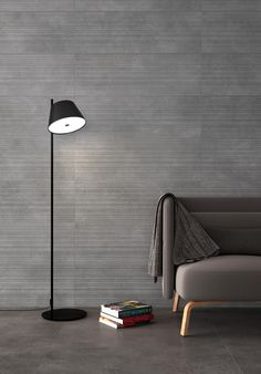 Gubi Wall Collection in Anthracite color, Prints relief highlights the beauty of imperfection. Interior, Gubi, Luxury Tile, Wall Printables, Wall, Ceramic Tiles, Glass Doors Interior, Wall Coverings, Concrete Look Tile