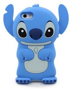 3D Cuites Cartoon Stitch Cases Movable Ear Flip Cover for iPhone 5/5s/5c