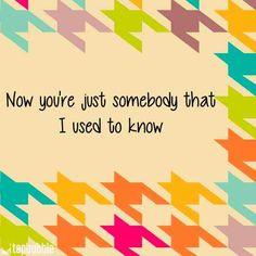 Somebody that I used to know #gotye #lyrics #love
