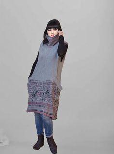 Dress/Gray dress/jersey Dress / Gown / Tunic by Danideng on Etsy, $69.00