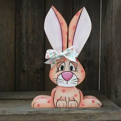 Wood Easter Decor Spring Home Decor Easter Bunny Bunny Easter Crafts, Easter Decor, Crafts For Kids, Adult Crafts, Bunny Bunny, Easter Bunny, Sock Bunny, Rabbit Silhouette, Rabbit Crafts