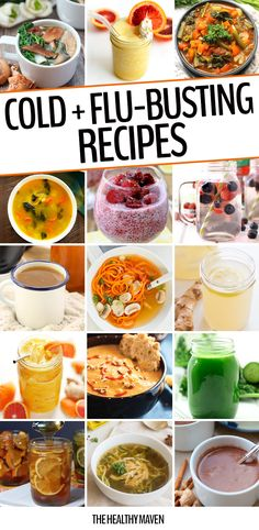 A round-up of 25 Cold and Flu-Busting Recipes to get you back to your optimal health in no-time. These all-natural remedies will help clear up your sickness straight from your kitchen.