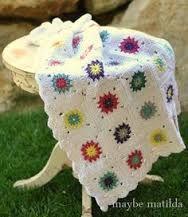 free delicate flower square crochet pattern - Google Search