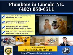 (402) 858-6511 No Hot Water? Frozen Pipes? Don't call a rookie! Since 1980 our Master Plumbers in Lincoln have turned wrenches & kept water flowing.- FREE Estimates, $25 COUPON!.