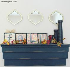 DIY Fall Mantle Deco
