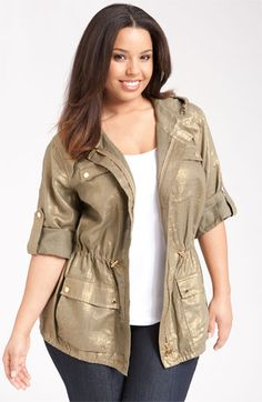 tjmaxx plus anorak jacket | plus size fashion | pinterest