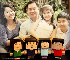 The Oon family as Foldables. Adeline, Ed, Meg and Brandon. #MeAndFoldableMe