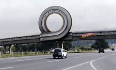 Ambient marketing by Hotwheels