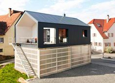 House Unimog Creatively Stacks Contemporary Living Atop a Light-Filled, Translucent Garage in Germany | Inhabitat - Sustainable Design Innovation, Eco Architecture, Green Building