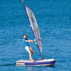 The Inflatable Windsurfer And Sailboat - Hammacher Schlemmer