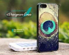 iPhone 5 case, Peacock Feather, iPhone case, iPhone cover, case for iPhone, A02A5224 via Etsy