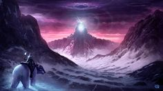 In this painting the rider is going to embark on an epic journey through the portal. Where it will take him, he does not know, but he travels courageously to face his destiny none the less. Landscape Concept, Fantasy Landscape, Fantasy Art, Photo Elements, Mtg Art, Fantasy Places, Fantasy Setting, Bear Art, Matte Painting