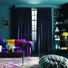 4 Pleasing Clever Tips: Farmhouse Curtains Living Room colorful curtains plants. Royal Blue Curtains, Blue Velvet Curtains, Blue Curtains Living Room, Teal Curtains, Living Room Windows, Living Room Decor, Bedroom Decor, Nursery Curtains, Velvet Curtains Bedroom