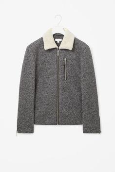 Melange flight jacket