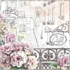 New 'Paris Roses I' Beth Grove Graphic Art Print by Great Big Canvas. Home Decor Furniture Wall Art Prints, Fine Art Prints, Poster Prints, My Canvas, Canvas Artwork, Canvas Size, Scrapbooking Vintage, Shabby, Decoupage Paper