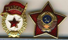 Мини ордена СССР в виде значков на клипсе