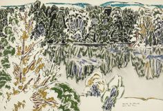 David Milne (Canadian, Kelly Ore Bed, Watercolour, x in. Canadian Painters, Canadian Artists, Figure Painting, Painting & Drawing, David Milne, Group Of Seven Art, Paintings I Love, Watercolor Techniques, Watercolor And Ink