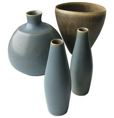 Vintage Danish Modern Pottery, Danish designers by Aneline and Per Lineman Schmidt of Palshu, 1950's.