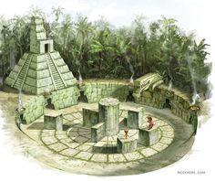 """""""Mayan puzzle"""" by (mozchops)   #Fantasy #Mayan #PrehispanicInspired #Maya"""