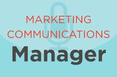 Here's a look at a typical marketing communications manager job description and the average salary that goes with it. #jobs #careers