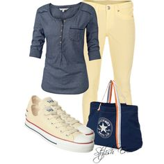"""""""Creamy Outfit!"""" by stylisheve on Polyvore"""