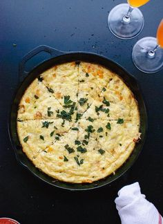 Simple, savory frittata made with butternut squash, onion, Parmesan and fried sage. This delicious gluten-free, meatless recipe is sure to please!
