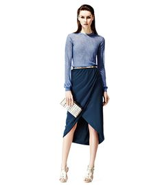 Reiss navy blue skirt