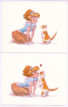 QwQ Kitty love is the best type of love❣ Getting a nose boop is like, THE BEST…