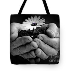 Beauty In The Hand Tote Bag by Clare Bevan Photography #clarebevan #clarebevanphotography #clarebevantotebags