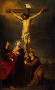 Crucifixion Painting by Murillo Bartolome Esteban