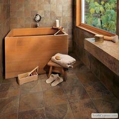 Dining Room Incredible Porcelain Tile That Looks Like Slate Kitchen With None Floor Prepare Elegant Tiles Home Design Ideas Brilliant Slate Flooring, Bathroom Flooring, Slate Tiles, Basement Bathroom, Bathroom Fixtures, Bath Design, Tile Design, Spa Design, Marazzi Tile