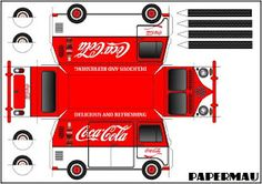 This is the Volkswagen Kombi Type II Coca-Cola , an easy-to-build paper model in only one sheet of paper. Enjoy!    Esta é a Volkswagen Kom...