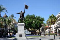 HUELVA: Monumento a Colón en Plaza de las Monjas.