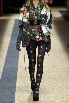 Prada - Hooded Printed Silk-faille Jacket - Black - IT36