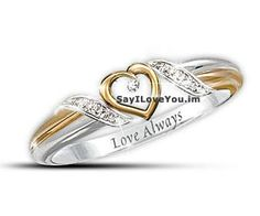 Heart Of Love Personalized Diamond Promise Ring, http://sayiloveyou.im/notes/engraved-promise-rings/  Only $119