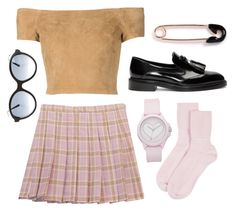 """""""Chicnova pleated skirt in pink"""" by gaaras-leaf on Polyvore featuring Chicnova Fashion, Alice + Olivia, Burberry, Johnstons of Elgin, IaM by Ileana Makri, Juicy Couture and Thierry Lasry"""