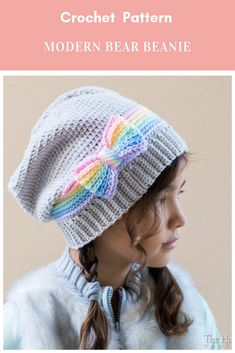 With this pattern by The Hat and I you will lear how to knit a Rainbow Reflections Beanie - crochet pattern beanie & slouch hat w/ bow step by step. It is an easy tutorial about bow to knit with crochet or tricot. Slouch Hat Crochet Pattern, Crochet Patterns, Hat Patterns, Pretty Patterns, Crochet Basics, Crochet For Beginners, Beginner Crochet, Crochet Gifts, Love Crochet