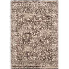 "Bungalow Rose Zennia Brown Rug Rug Size: 3'3"" x 5'3"""